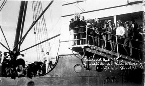 Salida del general Porfirio Díaz al exilio, 31 de mayo de 1911.