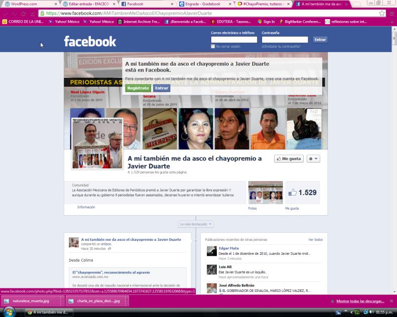 sitiodechayopremio en facebook