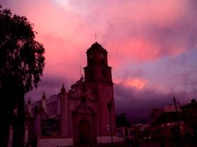 El ocaso sobre la iglesia_Mario_Jesús_Gaspar_Cobarrubias