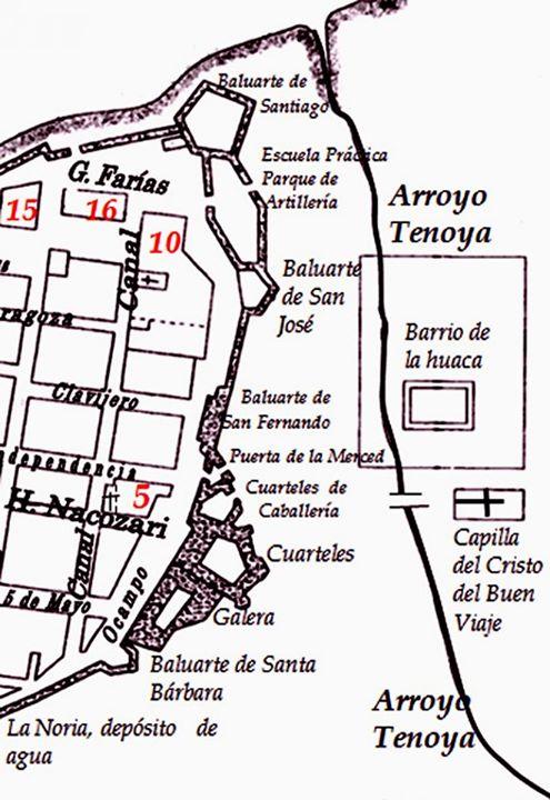 plano_ciudad_amurallada_Veracruz_1854
