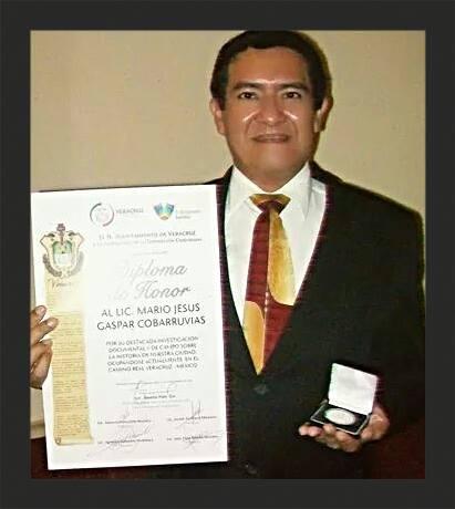 premio a Mario Jesús Gaspar Cobarrubias